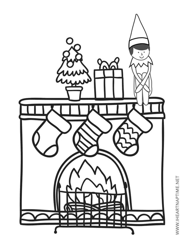 Elf on the Shelf Coloring Pages   Free christmas coloring ...
