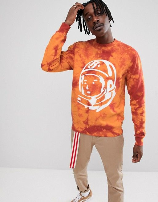 Billionaire Boys Club Bleached Logo Sweat In Red