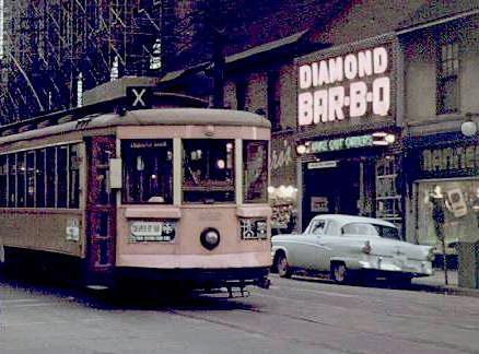 DIAMOND BAR-B-Q on Bank St... these are the days we had electric cars.