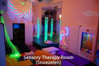 Snoezelen Room! I love this idea! I want to watch clients use these rooms!!! (Alzheimer's)