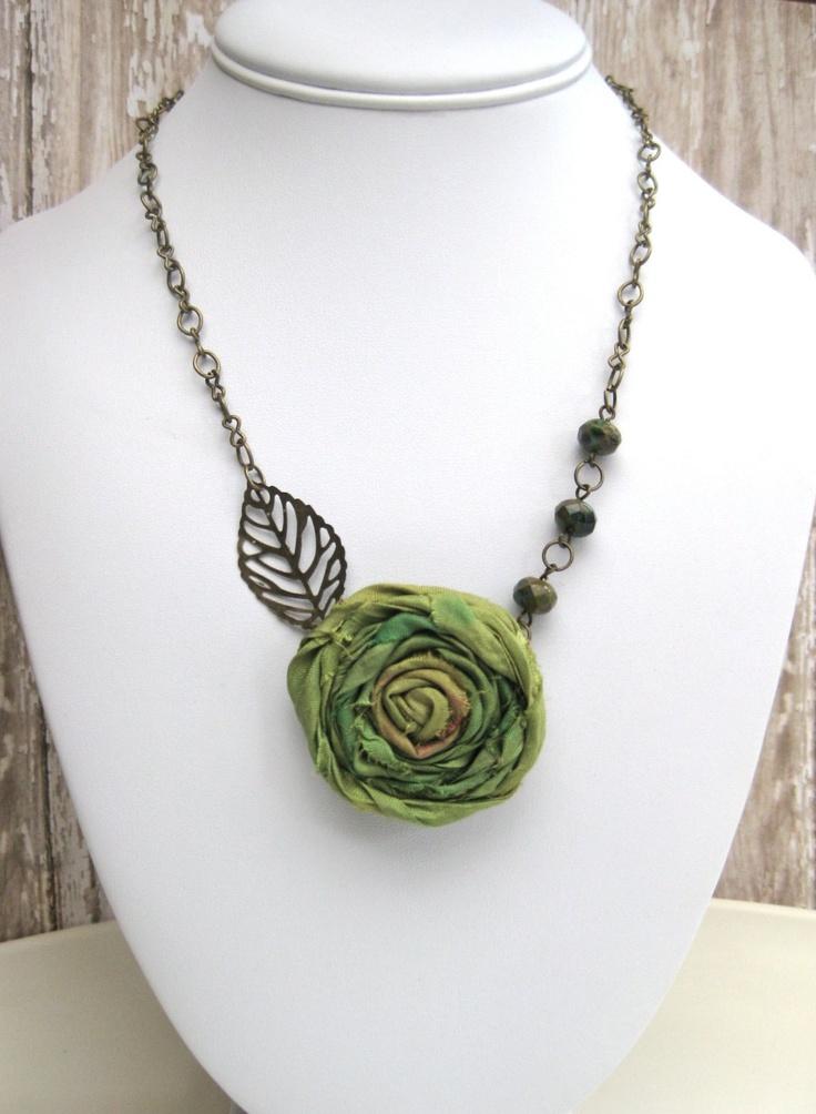 Green+Spring++Pistachio+green+sari+ribbon+by+CheekyChickDesigns,+$22.00