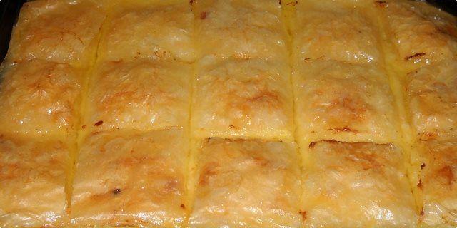 Sastojci krema: 5 jaja 250 g šećera 40 g gustina 150 g pšeničnog griza 1 vanilin šećer 50 g putera 1,3 l mlijeka sirup: 300 g še...