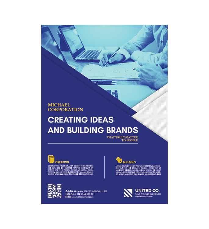 تحميل بروشور جرافيك Psd مجانا Brand Building Brochure London United