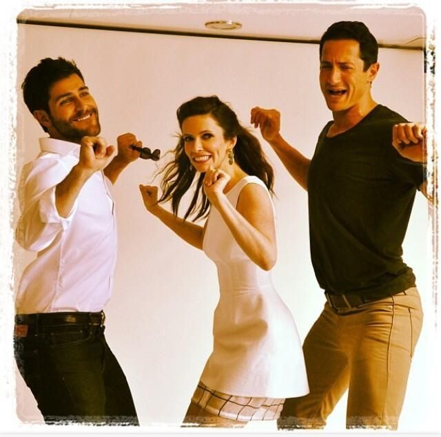 Grimm cast working it.