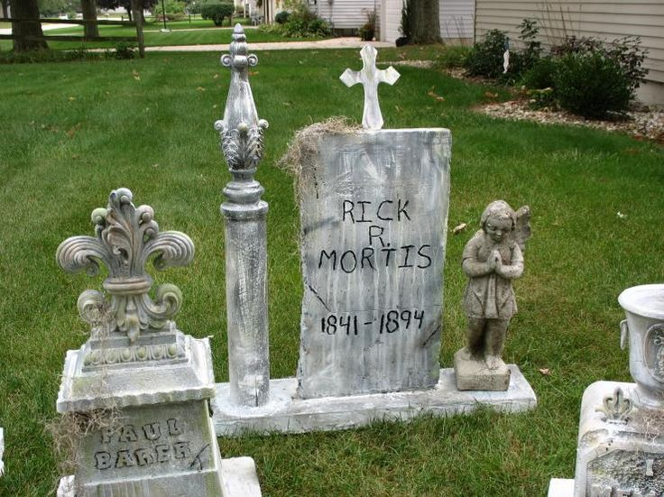 here are some tombstones i made from the clearance things i got at hobby lobby a couple of months ago i hope they turned out all right - Halloween Props Clearance