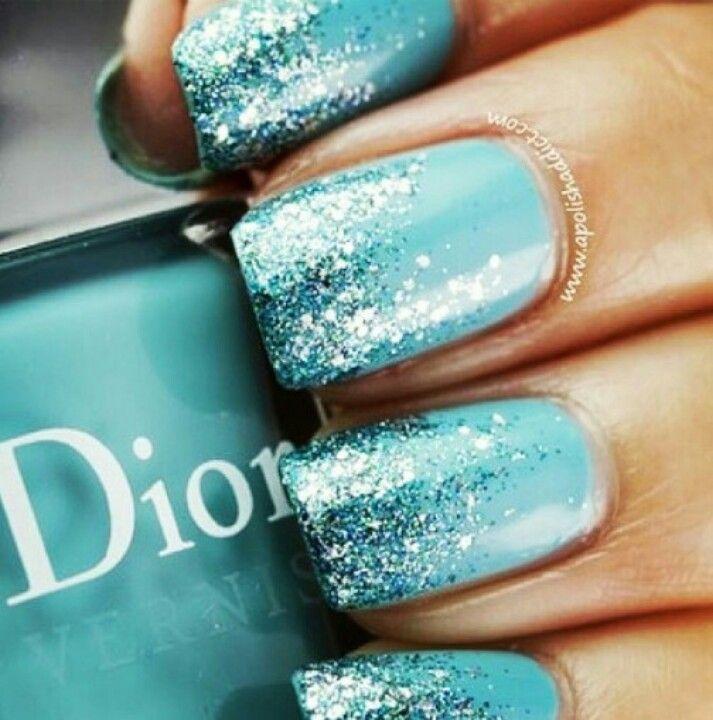 Pretty Nail Design~ Blue and Silver Winter Nail Art - Best 25+ Tiffany Blue Nails Ideas On Pinterest Tiffany Nails