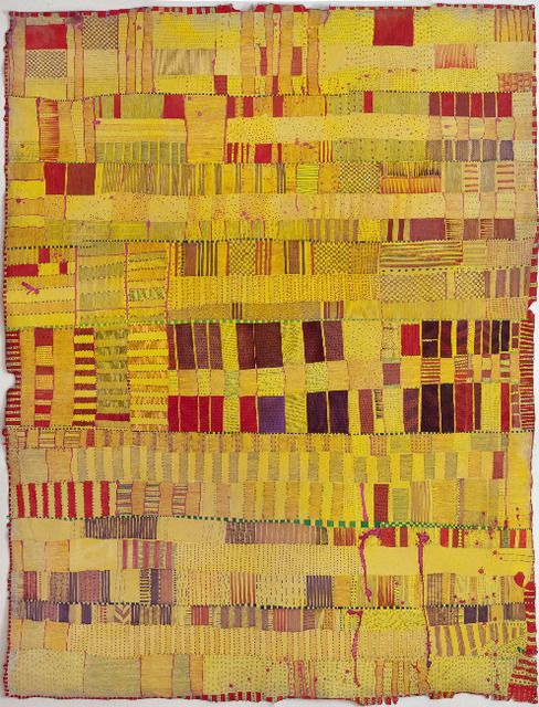 Huguette Caland, Untitled mixed media on canvas