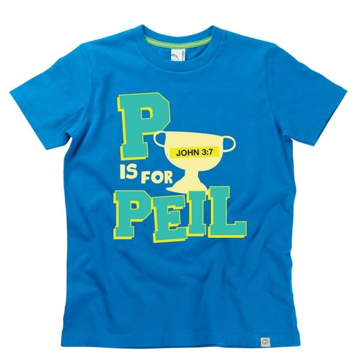 P is for Peil Kids Alphabet T-Shirt by Hairy Baby