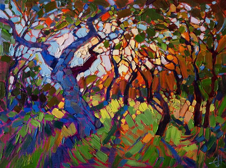 Crystal Light series oil painting by contemporary master Erin Hanson