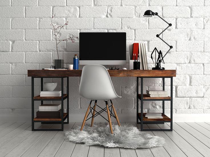 Cuando ingresas a un lugar cálido no quieres salir de allí, si agregas una alfombra que no sólo cumpla con su función decorativa, sino que también le dé a tu #estudio un ambiente acogedor, harás que todos quieran estar en este espacio. #decoracion #deco #diseño
