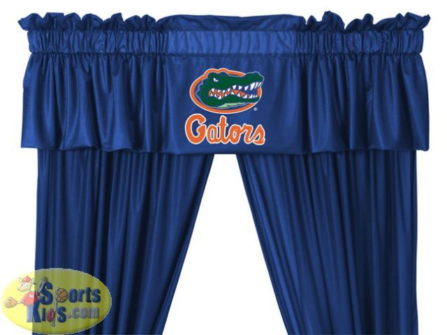 Florida Gators NCAA Valance With Drapes Set   SportsKids Superstore