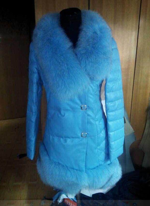 Зима куртка, винтажный роскошь лисий мех воротник реального кожа пуховик парка для женщины женщин зима куртки и пальто