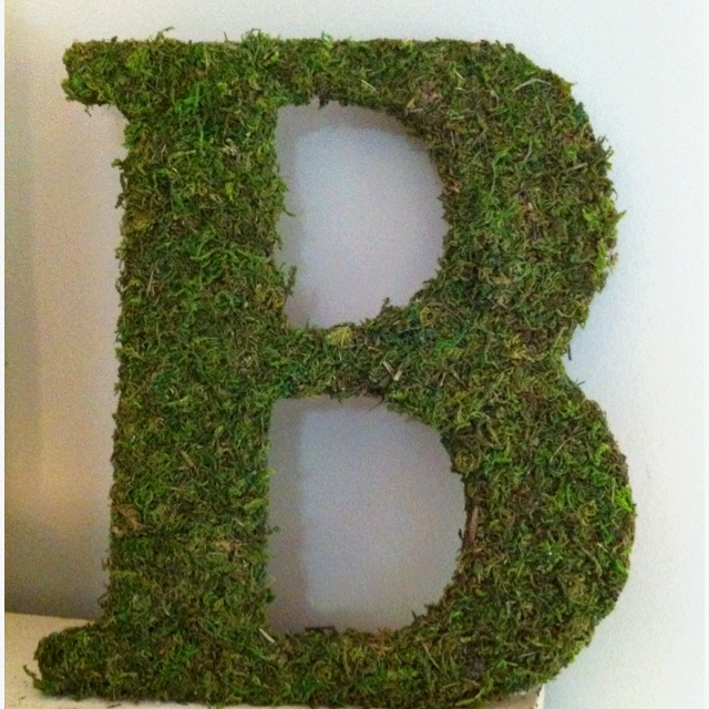 Moss Covered Letters Enchanting 63 Best Bossy Mossy Letters Images On Pinterest  Moss Letters 2018