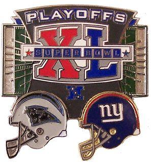 New York Giants vs. Carolina Panthers 2006 NFL Playoffs Pin