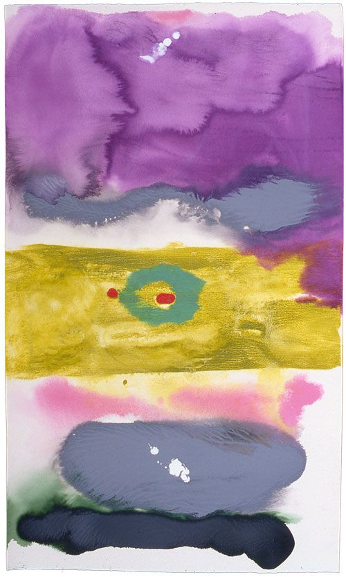 Helen Frankenthaler. Untitled, 1996. Acrylic on paper, 105.4 x 74.9 cm (41½ x 29½ inches).
