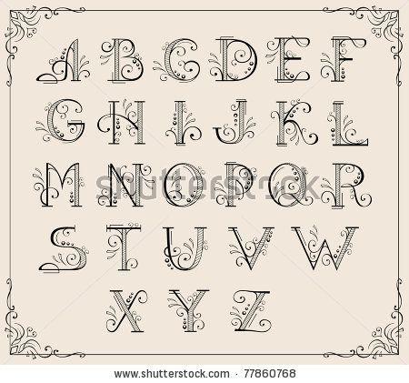 Calligraphy alphabet ❤❦♪♫