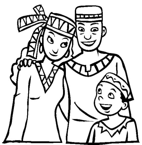 happy family at kwanzaa coloring page