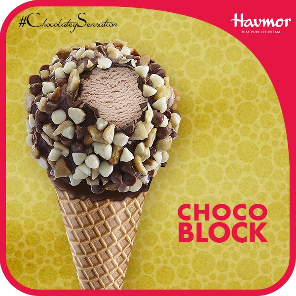 Indulge in the pleasure of a crispy cone topped with an overwhelmingly large chocolate block and to add some crunchy fun it has been filled with nuts.