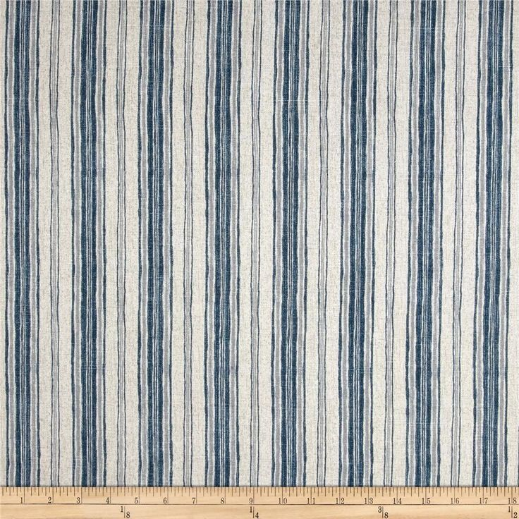 Magnolia Home Fashions Brunswick Denim  Screen printed on cotton duck;  medium weight.