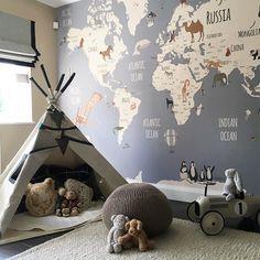 Eine #Weltkarte fürs #Kinderzimmer! Das sieht ein…