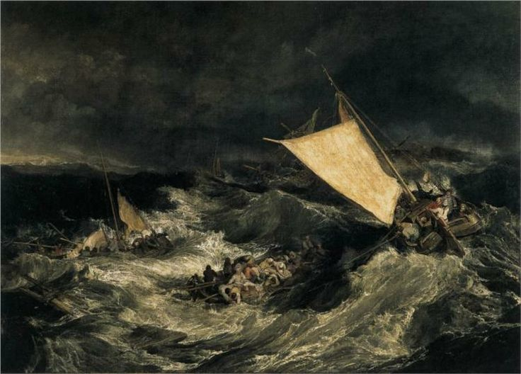 "William Turner ""The Shipwreck"", 1805 (Great Britain, Romanticism, 19th cent.)"