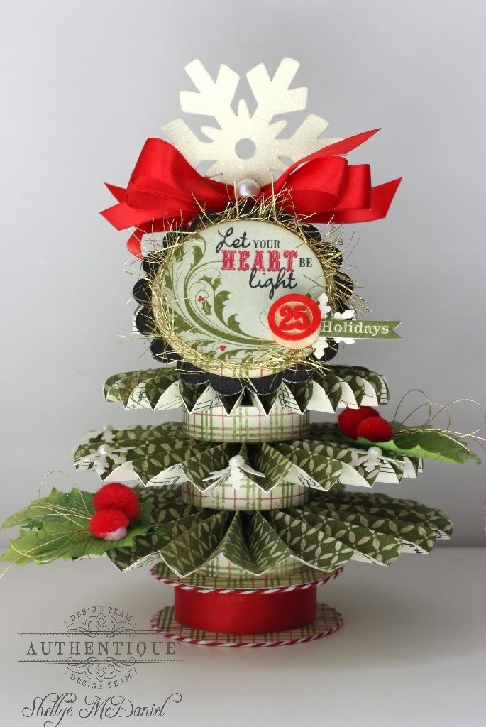 The Papered Cottage: FESTIVE: Holiday, Xmas, Rosette Tree, Cottages, Papered Cottage, Christmas Trees, Shellye Mcdaniel