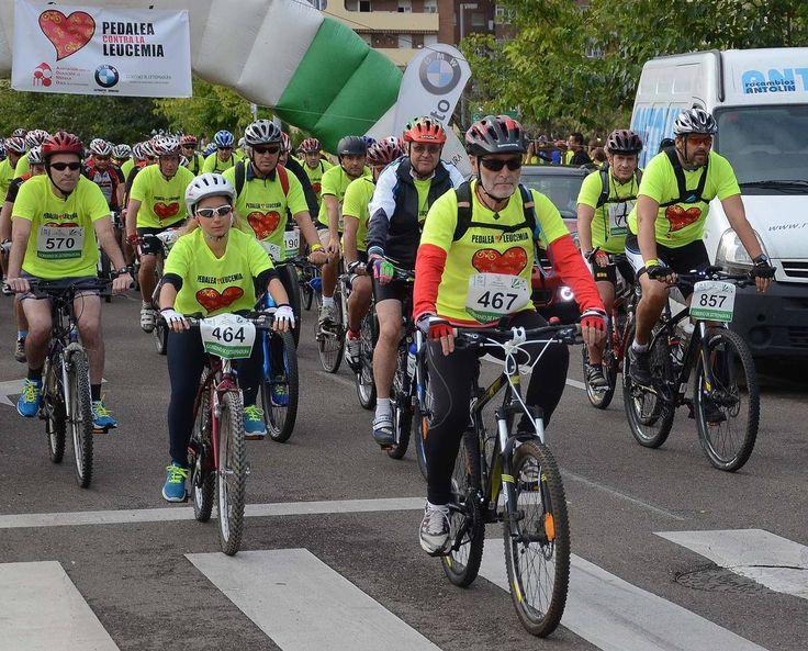 """Más de 1.100 personas participan en Badajoz en la 2ª prueba deportiva """"Pedalea contra la Leucemia"""", en el contexto del """"Día Internacional del Donante de Médula Osea"""", para sensibilizar a la sociedad sobre la importancia de la donación de médula ósea para paliar las dolencias de los afectados. [http://www.hoy.es/badajoz/201409/28/badajoz-pedalea-contra-leucemia-20140928133544.html]"""