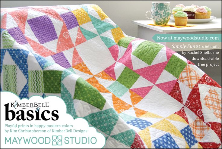 KimberBell Basics in American Patchwork & Quilting, June 2017 issue. Free pattern available now maywoodstudio.com!