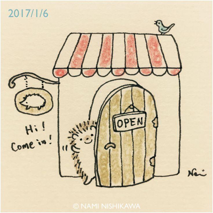1084 なみはりねずみのお店、オープンしてます! Namiharinezumi's shop is open. minne、Creema、tetoteの「なみはりねずみのお店」に遊びに来てくださいね♪