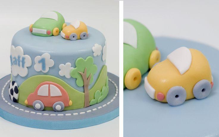 Baby cars cake