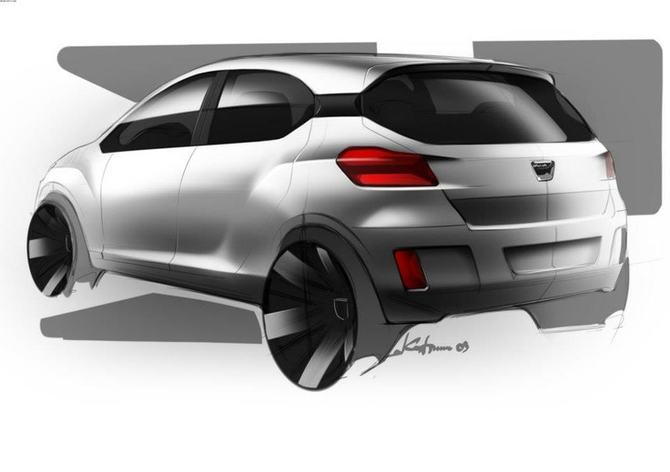 Schiță design Dacia Sandero