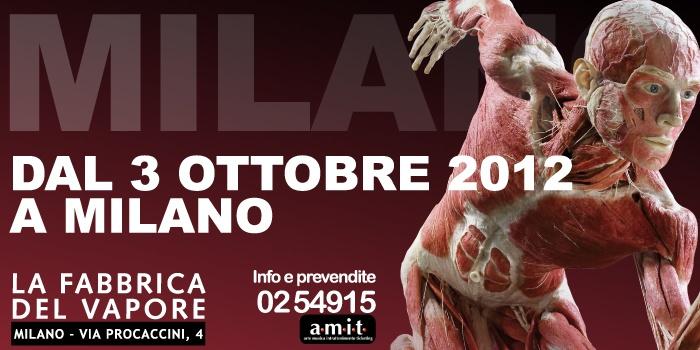 Gunther von Hagens'BODY WORLDS  2012-2013 - il vero mondo del corpo umano  - October 3 -> February 17 - ITALY