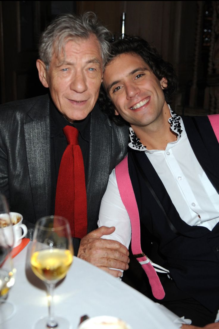Mika and Sir Ian McKellen at Mika Album Launch - 18/09/2009