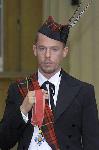 2003: McQueen accepts his CBE at Buckingham Palace Photograph: Nils Jorgensen/Rex Features