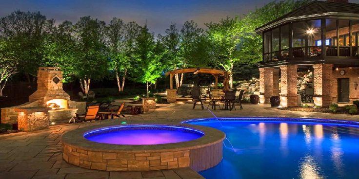 Exterior Swimming Pool Lighting
