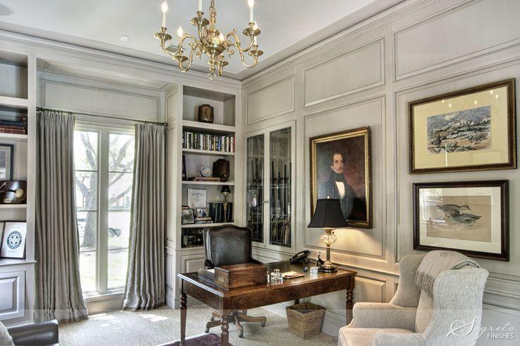 Glazed Paneling - Segreto Finishes. Fabulous office study library
