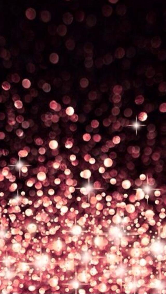 Coral pink bokeh iphone wallpapers pinterest bokeh - Rose gold glitter iphone wallpaper ...