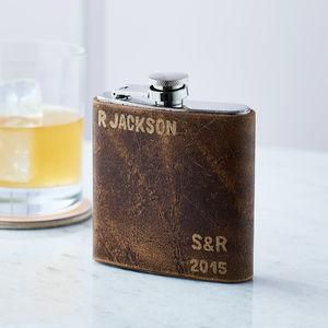 Personalised Wedding Hip Flask - The best wedding presents are always the ones that come from the heart, so capture the best qualities of the happy couple in your gift. Thoughtful and personalised presents for the newlyweds.