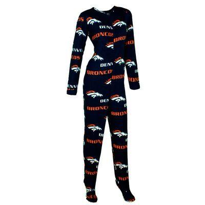 Denver Broncos Concepts Sport Women's Façade Union Suit Pajamas - Navy