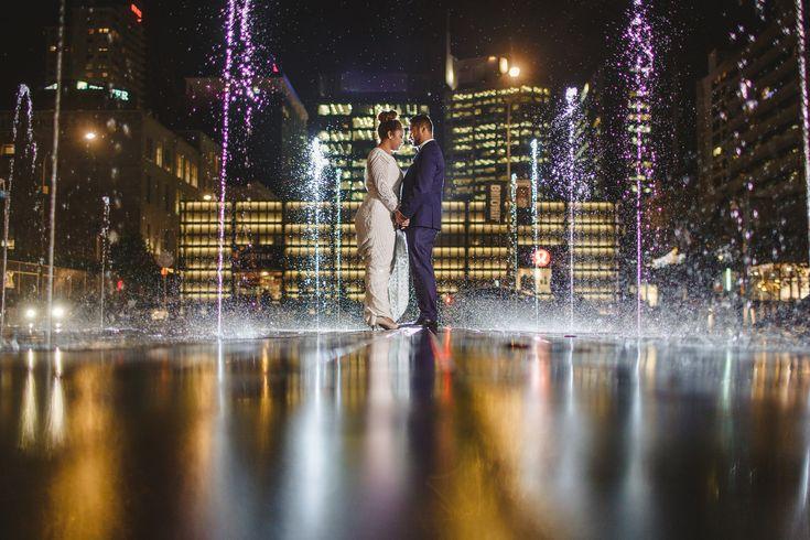 Britomart, Fountain, photogenic, locations, engagement, shoot.