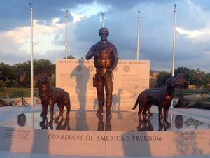 This bronze monument, honoring working military dogs, was just unveiled in San Antonio. What do you think? #MilitaryDogs #WorkingDogs