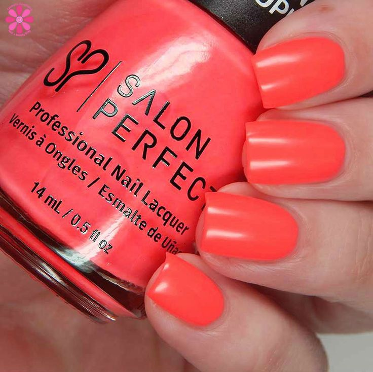 Salon Perfect Neon POP Summer 2017 Collection Pink nail