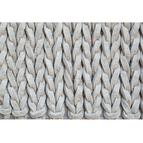 materiaal: wolvilt gevlochten vloerkleed