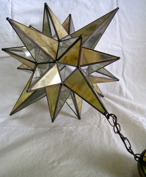 glass moravian star