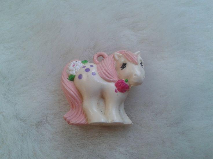 Vintage Hasbro dufti charmkins my pixie pony charm   - 1980s, pony charm by MetalmanEd on Etsy