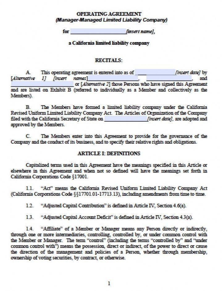 Get Our Example Of Limited Liability Company Agreement Template For Free Limited Liability Company Agreement Document Templates