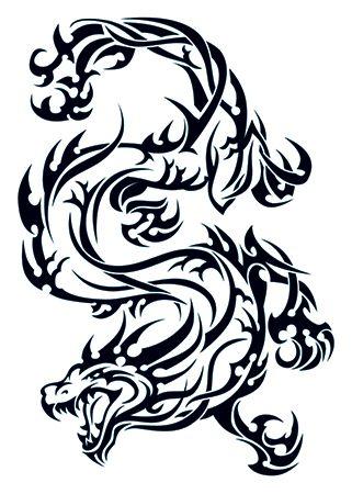 Tribal Dragon Tattoo #temporary #tattoo #tribal #dragon #t4aw #tattoos