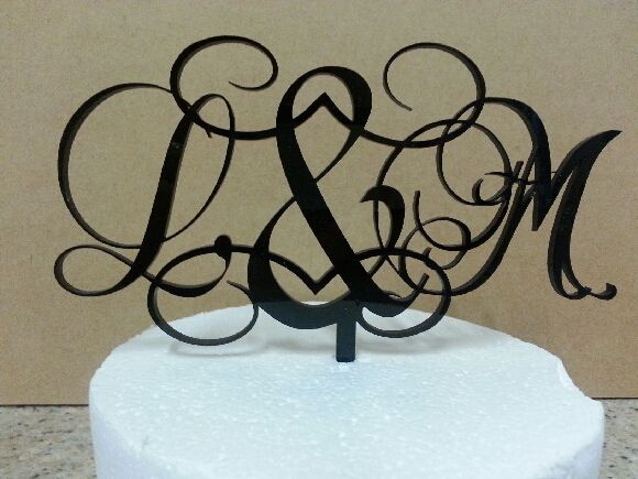Monogram with Swirls - personalised
