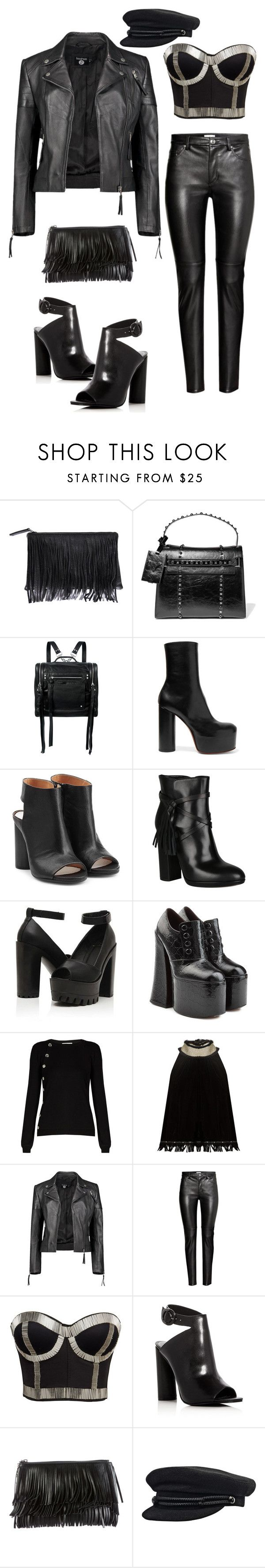 """""""Untitled #574"""" by christy-leigh-1 ❤ liked on Polyvore featuring Velvet by Graham & Spencer, Valentino, McQ by Alexander McQueen, Vetements, Maison Margiela, Atos Lombardini, Marc Jacobs, Altuzarra, Jupe By Jackie and Boohoo"""