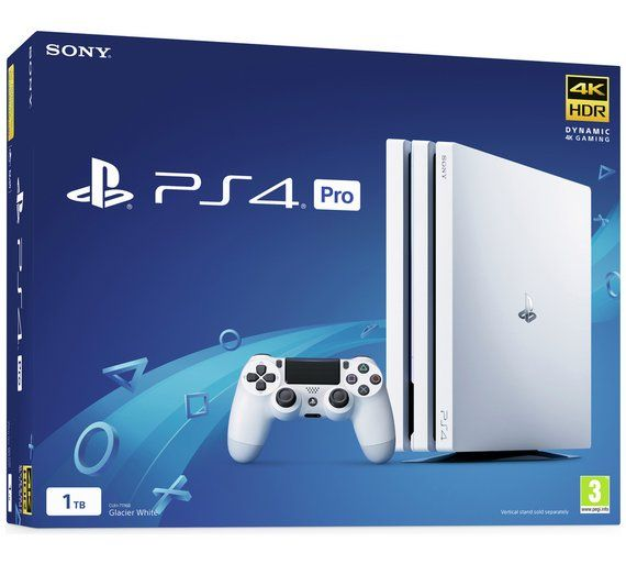 Buy Sony Ps4 Pro 1tb Console White Ps4 Consoles Argos Random